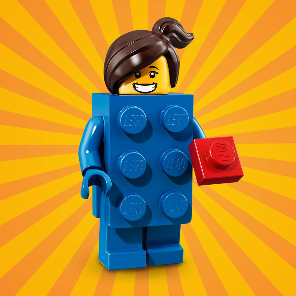 The LEGO Brick Suit Girl is bringing her unlimited creativity to the birthday bash.