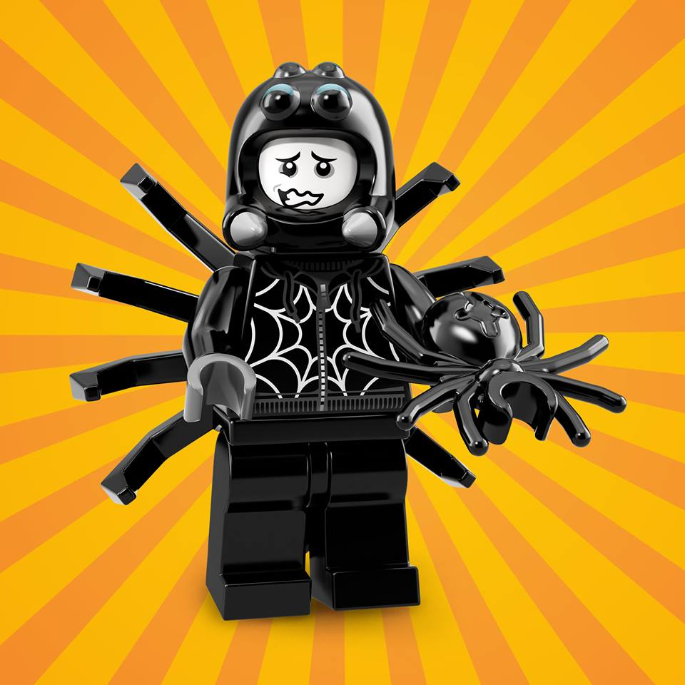 The Spider Suit Boy isn't really into parties, but he loves any chance to surprise, or even scare, his fellow Minifigures.