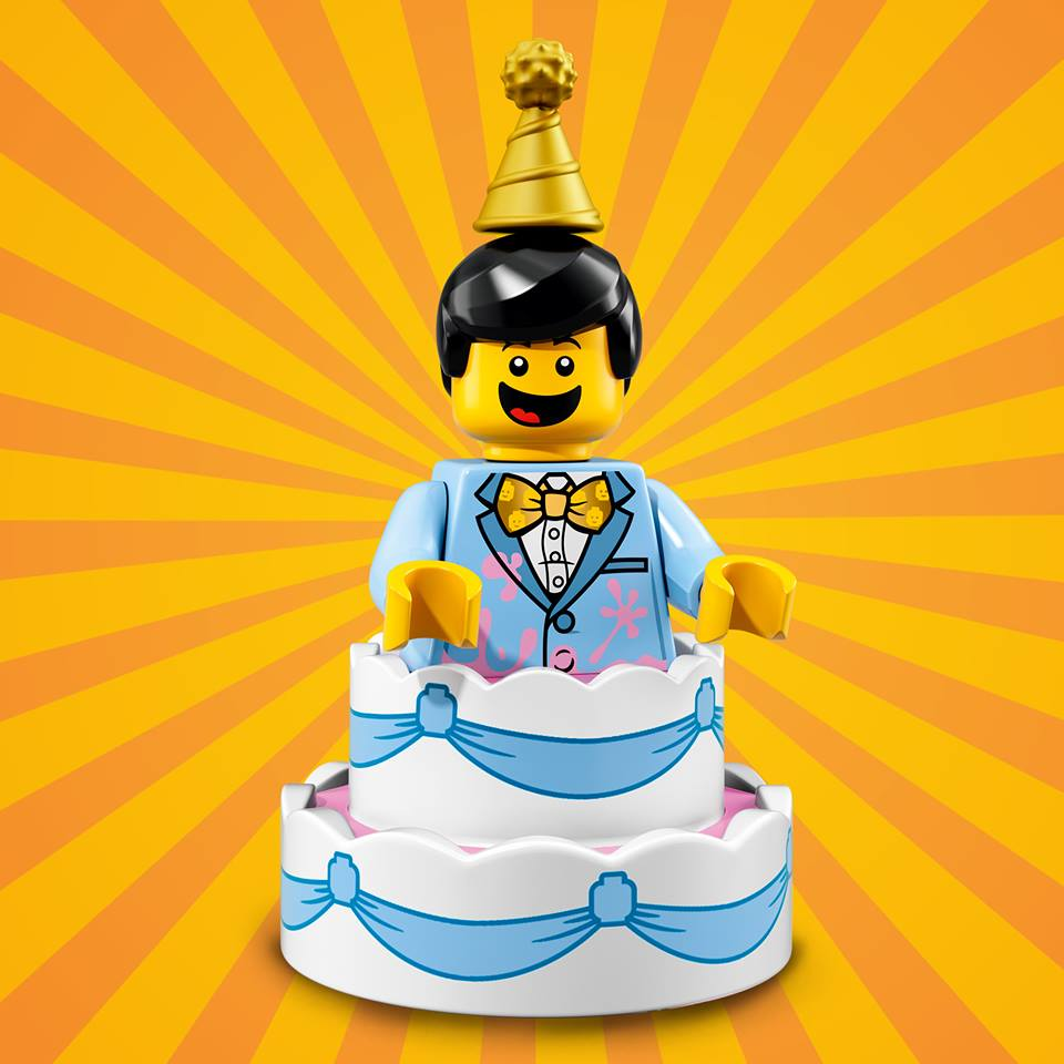The celebration for the 40th anniversary of the modern LEGO® Minifigure calls for a very special cake with an unexpected surprise inside.