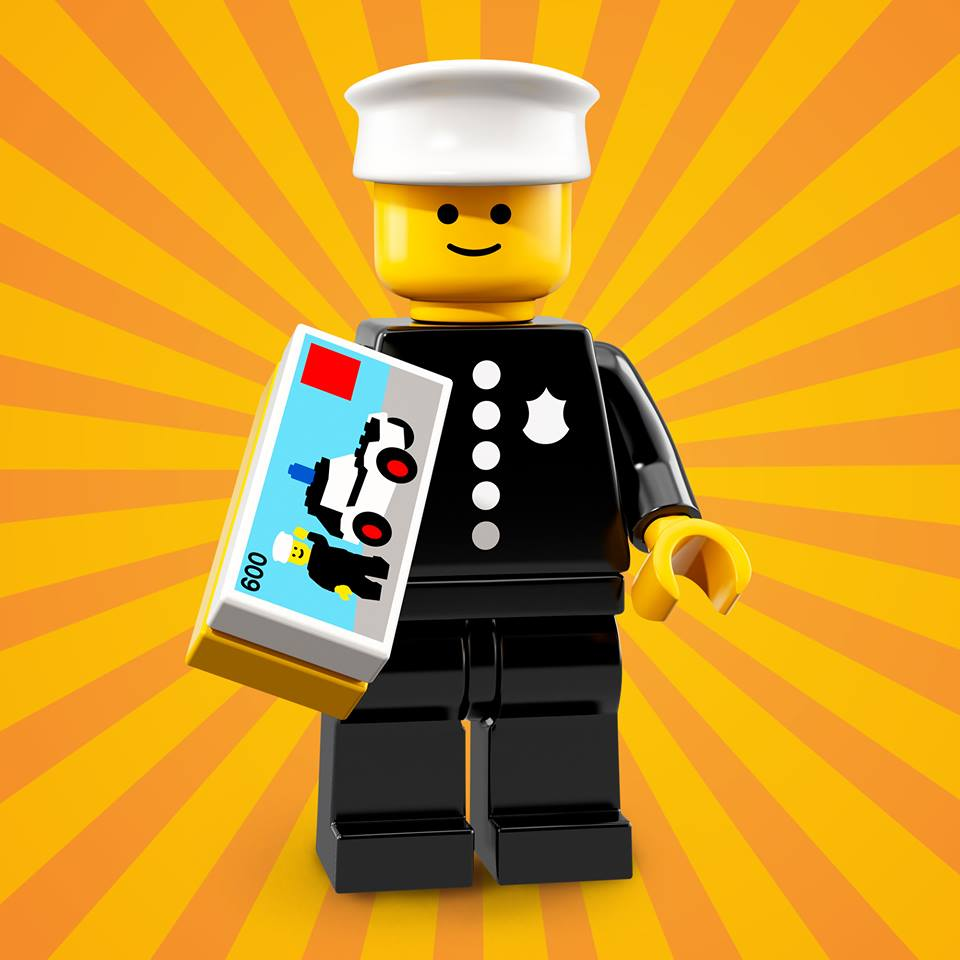 Here he is, the birthday boy! The Police Officer was one of the first modern LEGO® Minifigures ever!