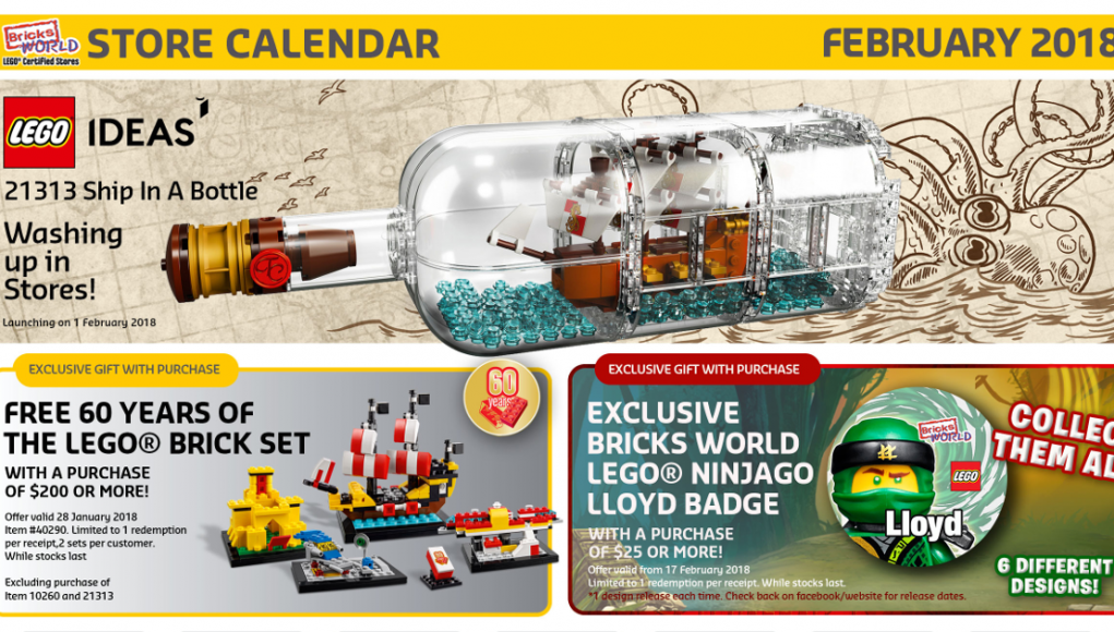 Bricksworld February 2018 LEGO Store Calendar - Candidbricks