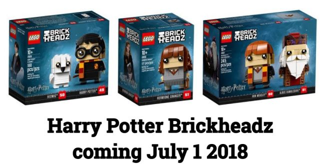 LEGO goes big with HARRY POTTER BRICKHEADZ