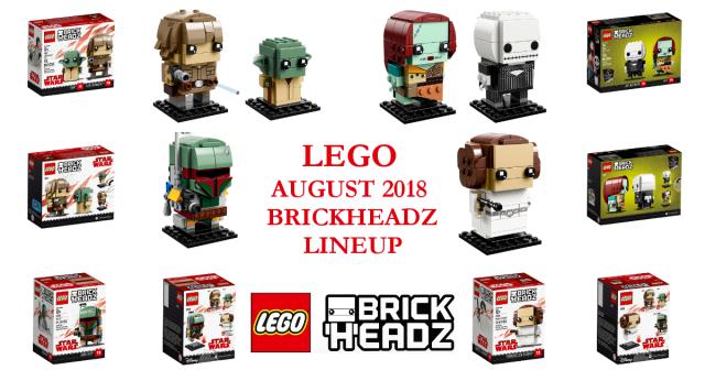 lego nightmare before christmas brickheadz and more star wars in august