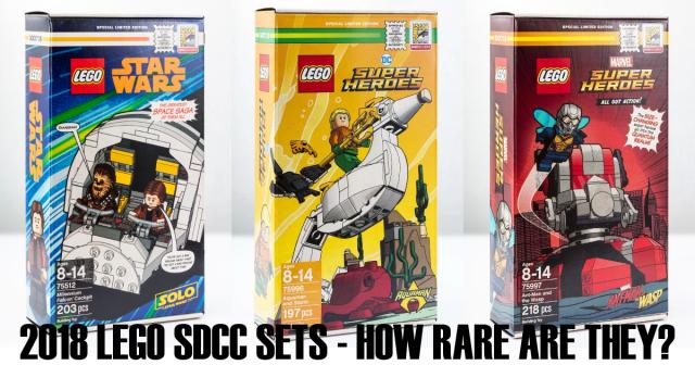 LEGO SDCC EXLUSIVES 2018 rairity-collection